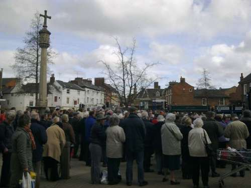 Churches Together in Harborough Good Friday Service on the Square 2010