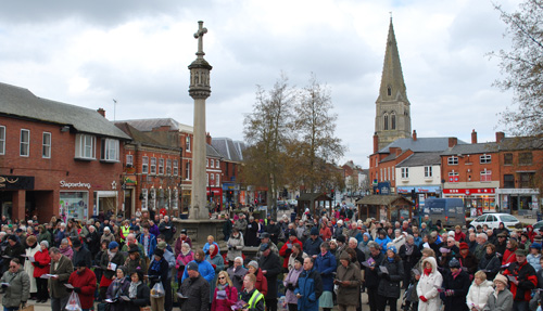 Churches Together in Harborough Good Friday Service on the Square March 2013