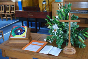 Good Friday 2014 prayer space at the Congregational Church