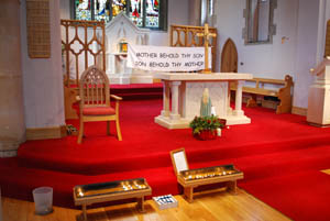 Good Friday 2014 prayer space at Our Lady of Victories Catholic Church