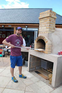 Pentecost 2014 at the CUBE youth centre - Pizza oven