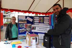 The Cube stall at Market Harborough's Good Friday 2015 event in the town square