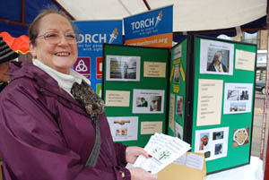 The Bower House Christian Counselling service stall at Market Harborough's Good Friday 2015 event in the town square